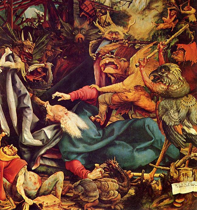 Matthias Grünewald: Szent Antal megkísértése, 1512/1516.